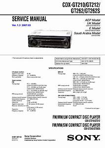 Wiring Diagram For Sony Xplod Cdx Gt210