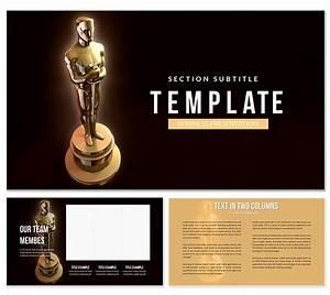 News Accuracy Chart Academy Awards Oscars Powerpoint Template