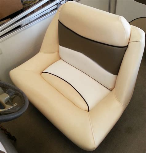 Reupholster Boat Captains Chair by Marine Upholstery