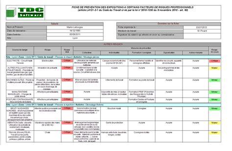 modèle fiche de pénibilité p 233 nibilit 233 au travail et fiche individuelle d exposition