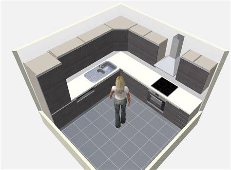 plan de cuisine en 3d 8 plans de cuisines pour une pièce carrée cuisine plus cuisine plus