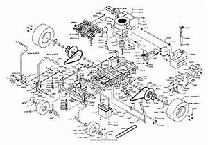 Dixon Ztr 312  1992  Parts Diagram For Chassis Assembly