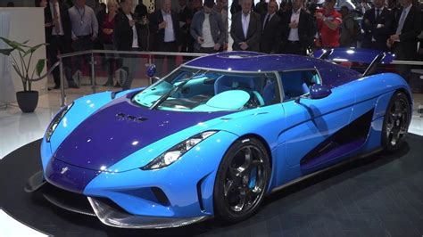 koenigsegg regera  swedish blue  scale  autoart