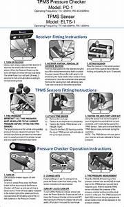 Pc Tpms Pressure Checker User Manual Michelin Tpms Operations Manual  120mm X 170mm  Fit2go Tpms