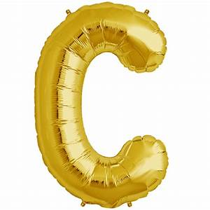 34quot gold letter c foil balloon for Gold letter balloons