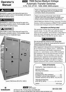 Emerson Asco 7000 Series Medium Voltage Transfer Switch