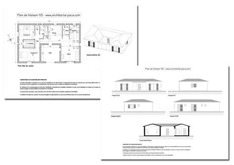 plan maison 3 chambre plain pied télécharger plan maison en u dossier complet plan