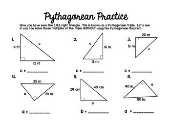 pythagorean theorem by middle school math lover tpt