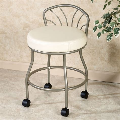 rolling vanity chair back vanity stools alessandra acrylic vanity stool vanity
