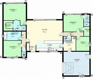 modele maison ossature bois plain pied ps61 jornalagora With les meilleurs plans de maison
