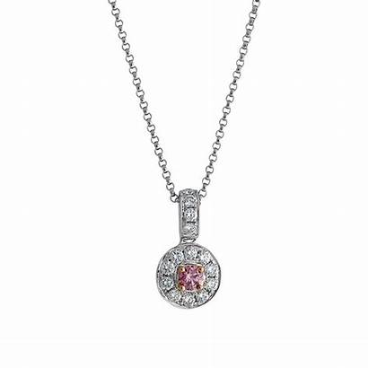 Pink Argyle Diamond Diamonds Halo Pendant Jewellery
