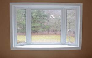 Bay Window Pics With Simple White Wooden Window Frames And