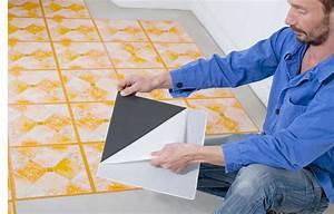 pose dun carrelage adhesif la technique With carrelage sol adhesif