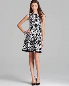 Chiara Boni La Robe Size Chart Shoshanna Dress Becky Ikat Sleeveless Knit Fit And Flare