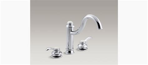 kohler fairfax kitchen faucet diagram fairfax high spout kitchen sink faucet with lever handles