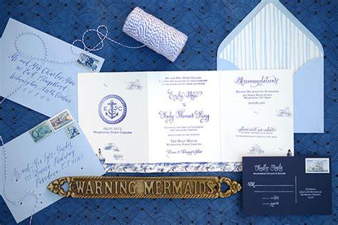 diy tutorial sted nautical tri fold wedding invitation suite