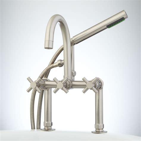 deck mount tub faucet sebastian deck mount tub faucet and shower cross