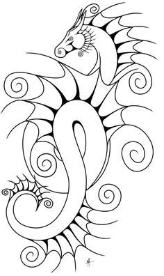 1000+ images about Dragons, Black & White on Pinterest