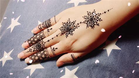 Diy Easy Mehendi Design For Fingers Tutorial #9- Henna