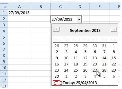 excel tips put a calendar date picker on an excel worksheet