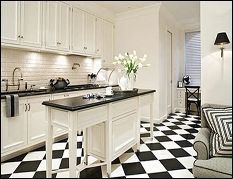 black and white tiled kitchen good life of design black and white floors