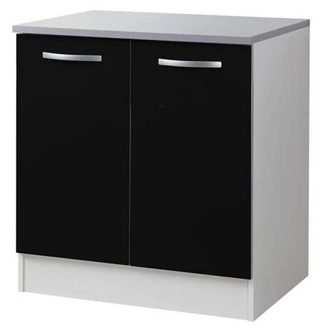 meuble bas cuisine 80 cm meuble bas de cuisine noir avec 2 portes 80 cm l 80 x p