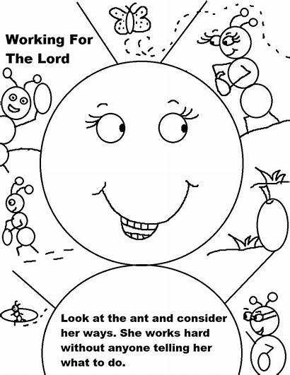 Coloring Sunday Pages Working Labor Printable Prayer