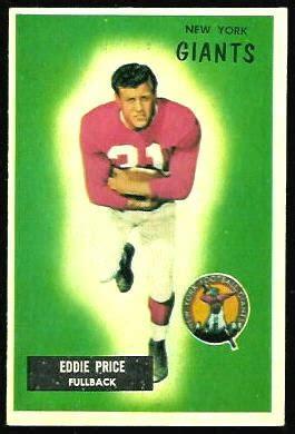 eddie price  bowman  vintage football card gallery