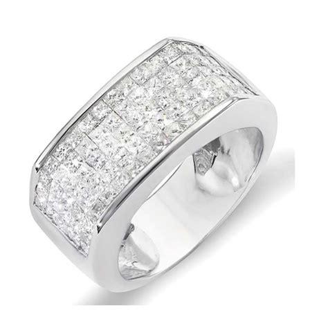 2 00 carat ctw 14k white gold princess diamond invisible men s wedding band ring 2