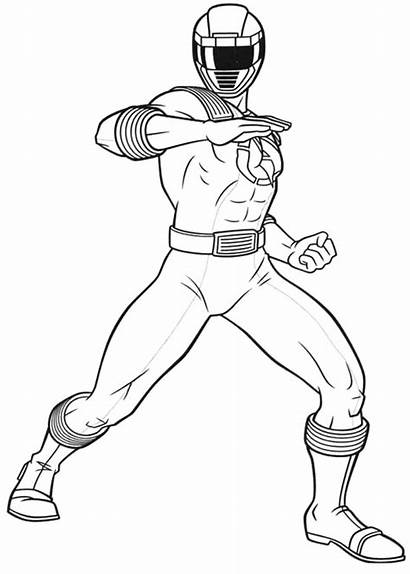 Rangers Power Mewarnai Ninja Coloring Gambar Robot