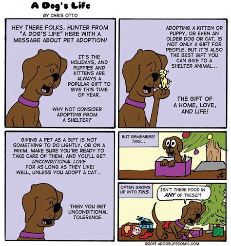 Special Holiday Message from A Dog's Life Comic