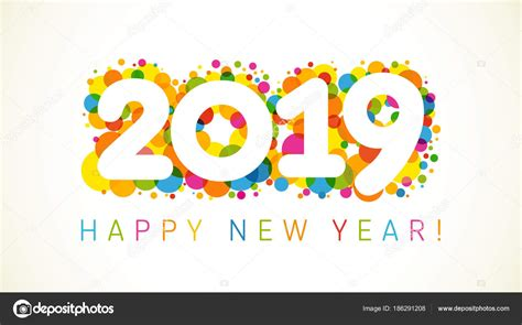 2019 Happy New Year Karácsonyi Üdvözlet Nyaralás Színes