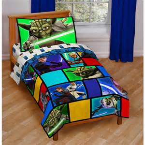 star wars 4 piece toddler bedding set walmart com