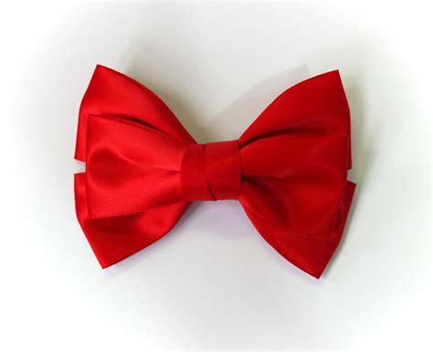 ribbon bow sale 50 off large red satin ribbon bow hair clip