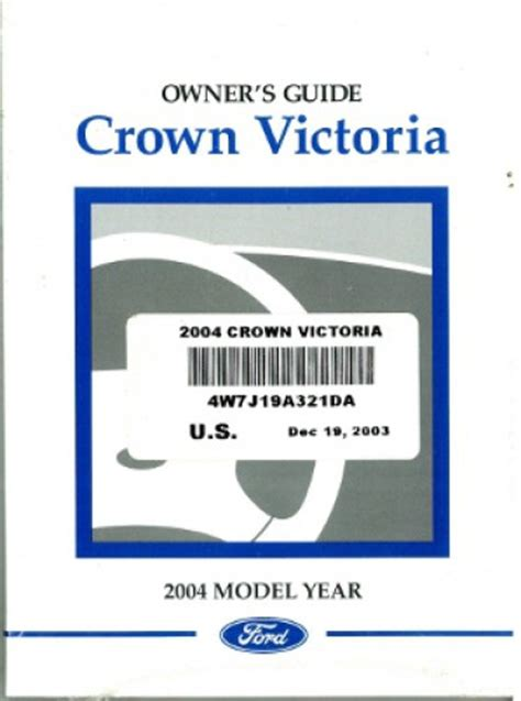 ford crown victoria owners manual