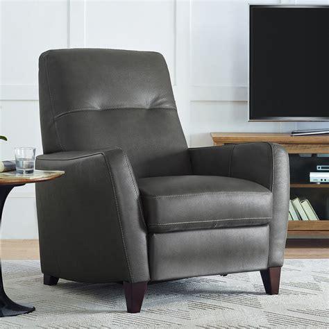 natuzzi grey leather pushback recliner armchair costco uk