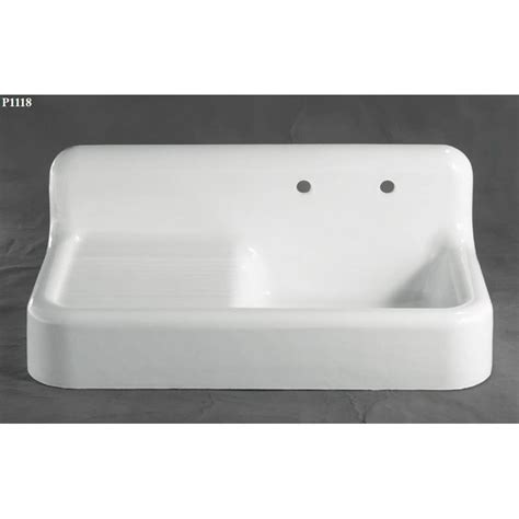 cast iron kitchen sink with drainboard the 42 quot cast iron and porcelain farmhouse sink 9381