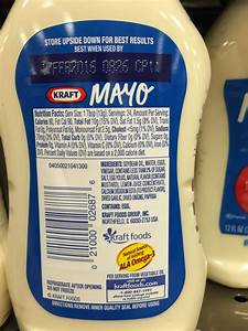Kraft Mayo Nutrition Label