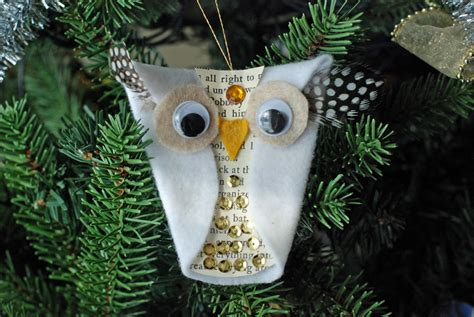 that artist woman snowy owl ornaments