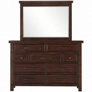 City Furniture: Napa Dark Tone Dresser & Mirror