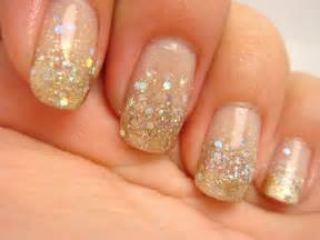 All nail and cosmetics gold silver glitter gradient
