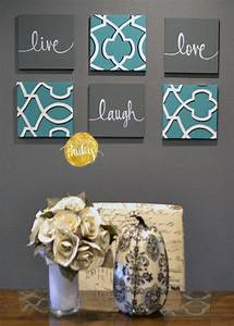 1000 ideas about teal wall decor on pinterest teal With kitchen colors with white cabinets with home sweet home canvas wall art