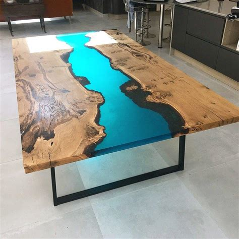resin oak river dining table revive joinery unit
