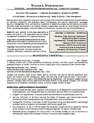 Aviation Management Resumes by Executive Resume Sles Best Resumes Of New York Ny Resume Services