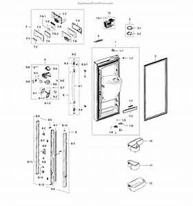 Parts For Samsung Rfg238aars  Xaa    0001  Refrigerator Door