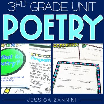 poetry unit  grade complete pack aligned