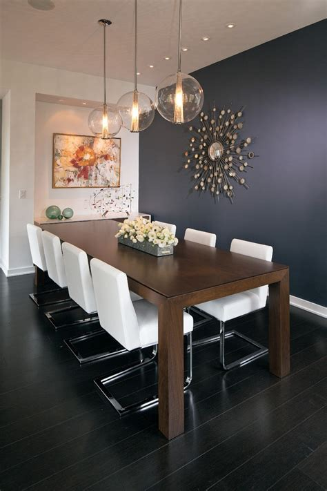 pleasing eclectic dining table  rectangular navy blue wall