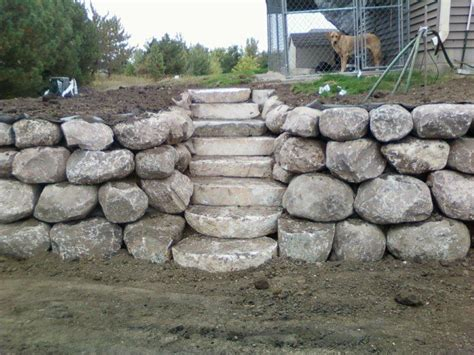 boulders for retaining wall retaining boulder wall pictures