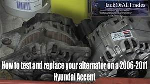 Hyundai Oem Alternator Testing And Replacement