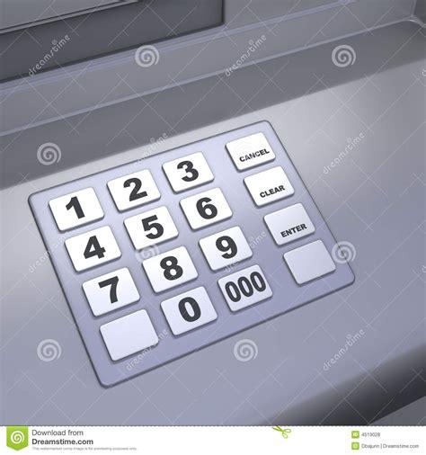 atm machine keyboard stock illustration image  grey